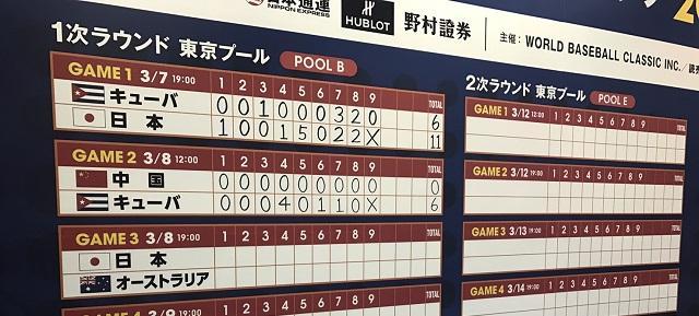 侍ジャパン対戦結果