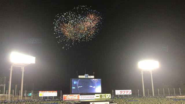 神宮球場 打ち上げ花火