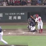 キャッチャーは振り逃げ一塁送球する時「中」と「外」を明確にして送球しろ